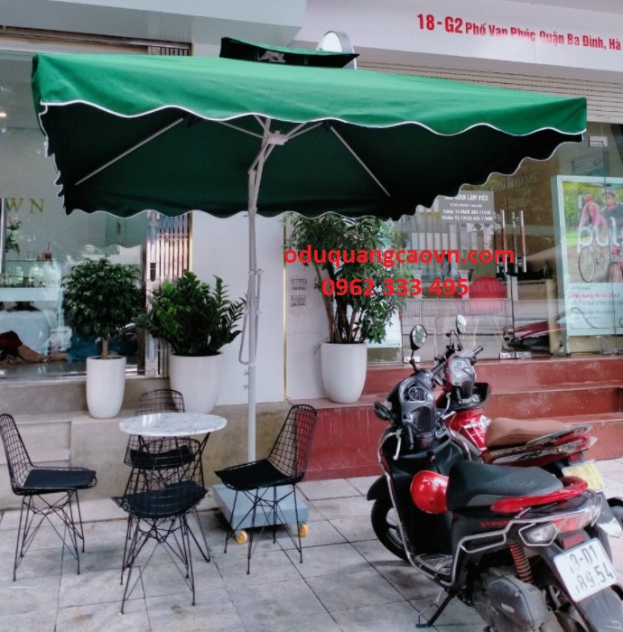 ô dù cafe màu xanh rêu