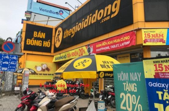 Ô dù quảng cáo tại Thegioididong
